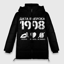 Женская зимняя 3D-куртка с капюшоном с принтом Дата выпуска 1998, цвет: 3D-черный, артикул: 10122747806071 — фото 1