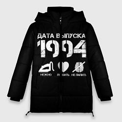 Женская зимняя 3D-куртка с капюшоном с принтом Дата выпуска 1994, цвет: 3D-черный, артикул: 10122750506071 — фото 1