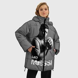 Женская зимняя 3D-куртка с капюшоном с принтом Leo Messi, цвет: 3D-черный, артикул: 10123452806071 — фото 2