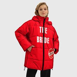 Куртка зимняя женская Невеста в красном цвета 3D-черный — фото 2