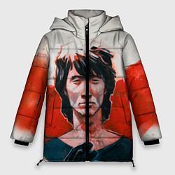 Куртка зимняя женская Молодой Цой цвета 3D-черный — фото 1