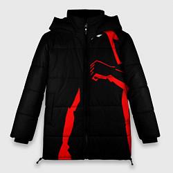 Женская зимняя 3D-куртка с капюшоном с принтом Dethklok: Dark Man, цвет: 3D-черный, артикул: 10134389706071 — фото 1