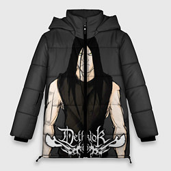 Женская зимняя 3D-куртка с капюшоном с принтом Dethklok Man, цвет: 3D-черный, артикул: 10134390706071 — фото 1