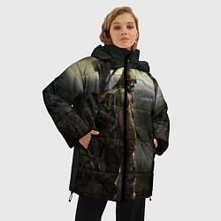 Женская зимняя 3D-куртка с капюшоном с принтом STALKER: Call of Pripyat, цвет: 3D-черный, артикул: 10135203906071 — фото 2