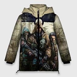 Женская зимняя 3D-куртка с капюшоном с принтом STALKER: Radioactive, цвет: 3D-черный, артикул: 10135204906071 — фото 1