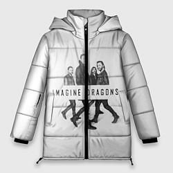 Женская зимняя 3D-куртка с капюшоном с принтом Imagine Dragons: White, цвет: 3D-черный, артикул: 10138104306071 — фото 1