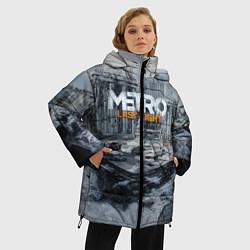 Женская зимняя 3D-куртка с капюшоном с принтом Metro: Last Light, цвет: 3D-черный, артикул: 10144520906071 — фото 2