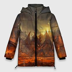 Женская зимняя 3D-куртка с капюшоном с принтом Linage II: Fire Dragon, цвет: 3D-черный, артикул: 10147854506071 — фото 1