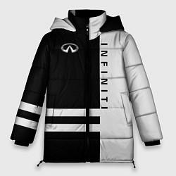 Куртка зимняя женская Infiniti: B&W Lines цвета 3D-черный — фото 1
