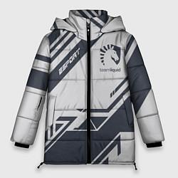 Женская зимняя 3D-куртка с капюшоном с принтом Team Liquid: Grey E-Sport, цвет: 3D-черный, артикул: 10154947106071 — фото 1