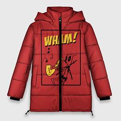 Женская зимняя 3D-куртка с капюшоном с принтом WHAM!, цвет: 3D-черный, артикул: 10155923506071 — фото 1