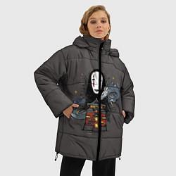 Женская зимняя 3D-куртка с капюшоном с принтом Унесенные призраками, цвет: 3D-черный, артикул: 10156081306071 — фото 2
