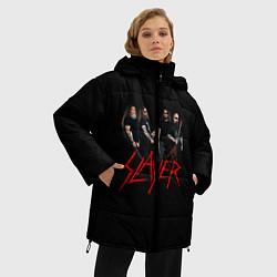Женская зимняя 3D-куртка с капюшоном с принтом Slayer Band, цвет: 3D-черный, артикул: 10156552506071 — фото 2
