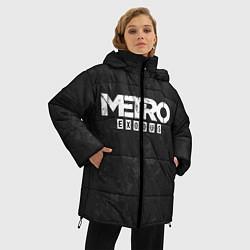 Женская зимняя 3D-куртка с капюшоном с принтом Metro Exodus: Space Grey, цвет: 3D-черный, артикул: 10160285906071 — фото 2