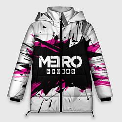 Женская зимняя 3D-куртка с капюшоном с принтом Metro: Exodus Purple, цвет: 3D-черный, артикул: 10161592906071 — фото 1