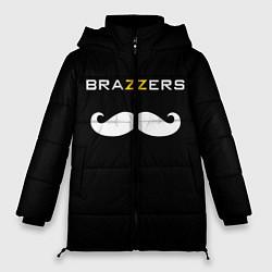 Женская зимняя 3D-куртка с капюшоном с принтом BRAZZERS, цвет: 3D-черный, артикул: 10162468706071 — фото 1