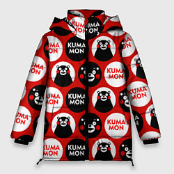 Женская зимняя 3D-куртка с капюшоном с принтом Kumamon Pattern, цвет: 3D-черный, артикул: 10162550706071 — фото 1