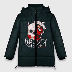 Женская зимняя 3D-куртка с капюшоном с принтом Безумный азарт, цвет: 3D-черный, артикул: 10171197706071 — фото 1