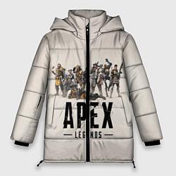 Женская зимняя 3D-куртка с капюшоном с принтом Apex Legends: Warriors, цвет: 3D-черный, артикул: 10172193506071 — фото 1