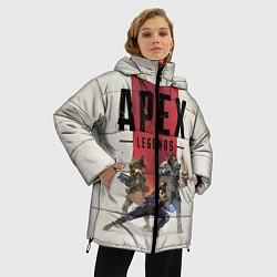 Женская зимняя 3D-куртка с капюшоном с принтом Apex Legends, цвет: 3D-черный, артикул: 10172288706071 — фото 2