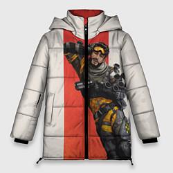 Женская зимняя 3D-куртка с капюшоном с принтом Apex Legends: Mirage, цвет: 3D-черный, артикул: 10172776706071 — фото 1