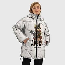 Женская зимняя 3D-куртка с капюшоном с принтом Apex Legends, цвет: 3D-черный, артикул: 10172803706071 — фото 2
