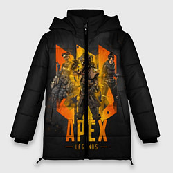 Женская зимняя 3D-куртка с капюшоном с принтом Apex Legends: Trio, цвет: 3D-черный, артикул: 10173146906071 — фото 1