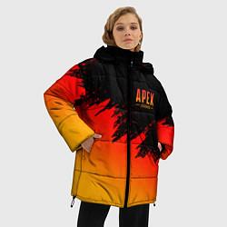 Женская зимняя 3D-куртка с капюшоном с принтом Apex Sprite, цвет: 3D-черный, артикул: 10173229906071 — фото 2