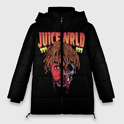 Женская зимняя 3D-куртка с капюшоном с принтом Juice WRLD, цвет: 3D-черный, артикул: 10173990506071 — фото 1