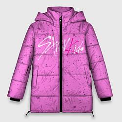 Женская зимняя 3D-куртка с капюшоном с принтом STRAY KIDS АВТОГРАФЫ, цвет: 3D-черный, артикул: 10185295906071 — фото 1