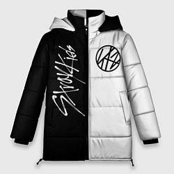 Женская зимняя 3D-куртка с капюшоном с принтом Stray Kids, цвет: 3D-черный, артикул: 10196988706071 — фото 1