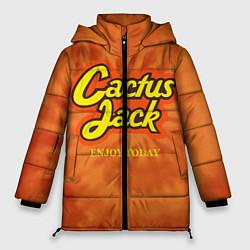 Женская зимняя 3D-куртка с капюшоном с принтом Cactus Jack, цвет: 3D-черный, артикул: 10199295306071 — фото 1
