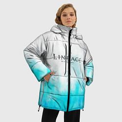 Женская зимняя 3D-куртка с капюшоном с принтом LINEAGE 2, цвет: 3D-черный, артикул: 10202647706071 — фото 2