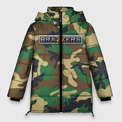 Женская зимняя 3D-куртка с капюшоном с принтом Brazzers, цвет: 3D-черный, артикул: 10210751506071 — фото 1