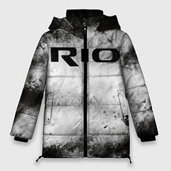 Женская зимняя 3D-куртка с капюшоном с принтом KIA RIO, цвет: 3D-черный, артикул: 10211866506071 — фото 1