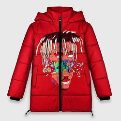 Женская зимняя 3D-куртка с капюшоном с принтом Juice WRLD, цвет: 3D-черный, артикул: 10213235906071 — фото 1
