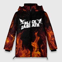 Женская зимняя 3D-куртка с капюшоном с принтом Black Sabbath, цвет: 3D-черный, артикул: 10213955706071 — фото 1