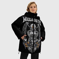 Женская зимняя 3D-куртка с капюшоном с принтом Megadeth, цвет: 3D-черный, артикул: 10218174706071 — фото 2