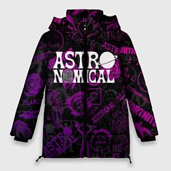 Женская зимняя 3D-куртка с капюшоном с принтом TRAVIS SCOTT, цвет: 3D-черный, артикул: 10221943706071 — фото 1