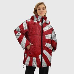 Женская зимняя 3D-куртка с капюшоном с принтом ЯПОНИЯ ГРАНЖ, цвет: 3D-черный, артикул: 10246801906071 — фото 2