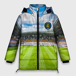 Женская зимняя 3D-куртка с капюшоном с принтом FC INTER, цвет: 3D-черный, артикул: 10256804306071 — фото 1