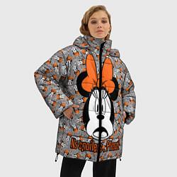 Женская зимняя 3D-куртка с капюшоном с принтом No spoilers , please!, цвет: 3D-черный, артикул: 10261225106071 — фото 2