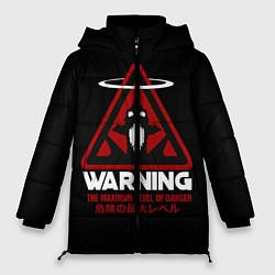 Женская зимняя 3D-куртка с капюшоном с принтом Евангелион, цвет: 3D-черный, артикул: 10265870906071 — фото 1