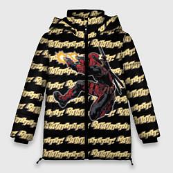 Женская зимняя 3D-куртка с капюшоном с принтом Deadpool, цвет: 3D-черный, артикул: 10275026106071 — фото 1