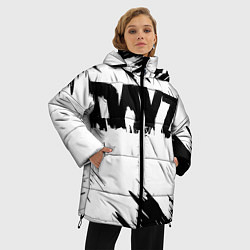 Женская зимняя 3D-куртка с капюшоном с принтом Dayz, цвет: 3D-черный, артикул: 10287511506071 — фото 2
