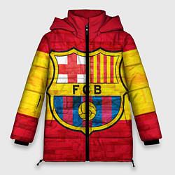 Женская зимняя 3D-куртка с капюшоном с принтом Barcelona, цвет: 3D-черный, артикул: 10063905206071 — фото 1