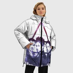 Женская зимняя 3D-куртка с капюшоном с принтом 30 seconds to mars, цвет: 3D-черный, артикул: 10063909106071 — фото 2
