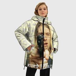 Куртка зимняя женская Кобейн с пистолетом - фото 2