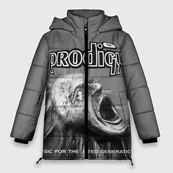 Женская зимняя 3D-куртка с капюшоном с принтом The Prodigy: Madness, цвет: 3D-черный, артикул: 10063918706071 — фото 1