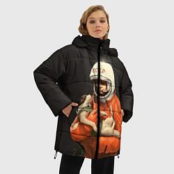 Куртка зимняя женская Гагарин с лайкой цвета 3D-черный — фото 2